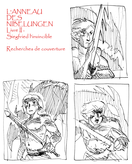 Esquisses de couverture de Siegfried l'invincible